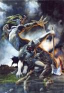DEATH DEALER - watercolor - 1993