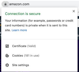 Secure site using an SSL certificate