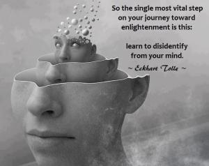 So the single most vital step on your journey toward enlightenment is this  learn to disidentify from your mind