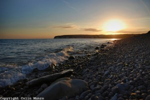 Sunset, Axmouth pebble beach