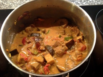 Finished curry