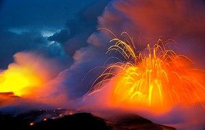 Kilauea volcano is currently active