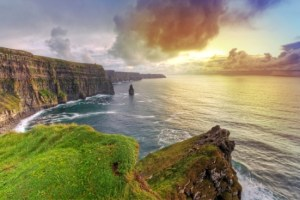Cliffs-of-Moher-at-amazing-sunset