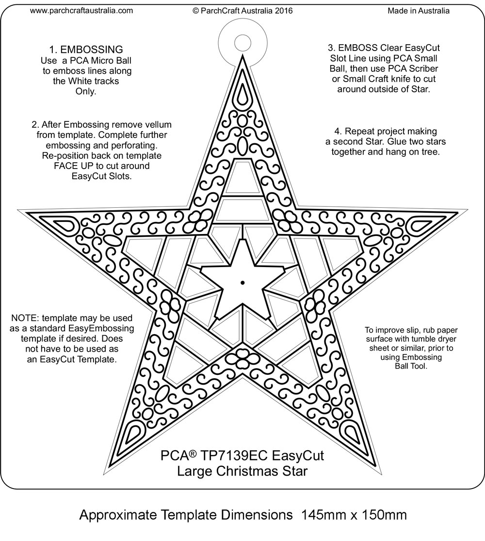 Large Christmas Star Parchment Craft Usa