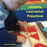 Lessons Learned at Preschool