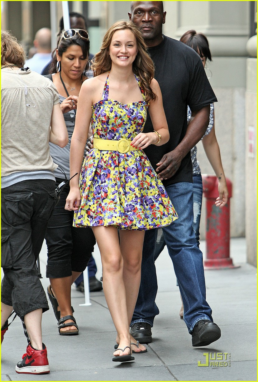 Blair Waldorf, a.k.a Leighton Meester. Image courtesy of Just Jared