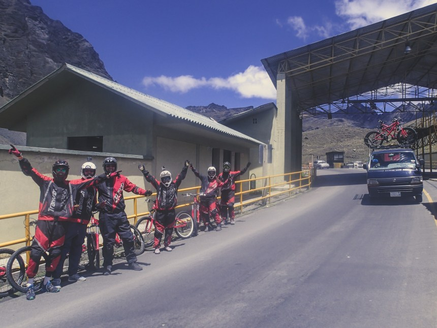 biking worlds most dangerous road bolivia park control point