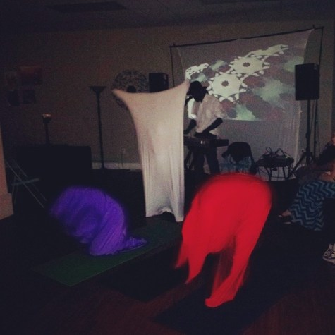 Heaven and Hell(dance, projected visuals with Moses Knightshead and Heidi Domange, Tina Helmers dancing) 2014, Houma