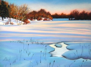 Snow on Tillson Lake
