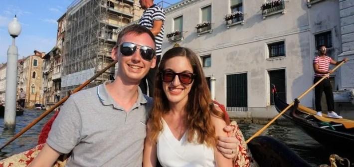 Taking a Romantic Gondola Ride in Venice, Italy