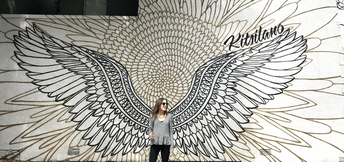 Vancouver's Most Instagram-Worthy Walls and Murals. Check out these giant wings in Vancouver's Kitsilano neighbourhood! #kitswings | www.andreapeacock.com