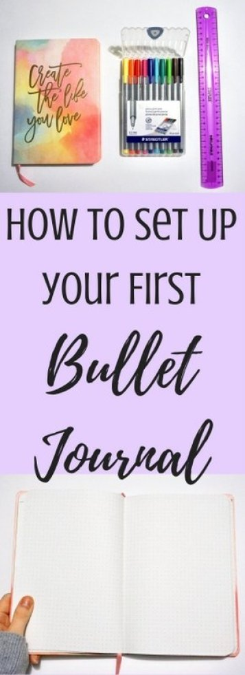 How to Set Up Your First Bullet Journal   www.andreapeacock.com