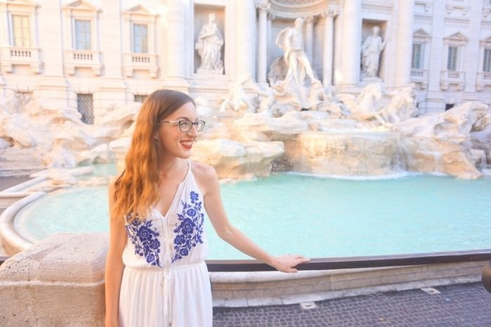 How to see the Trevi Fountain in Rome Without the Crowds | www.andreapeacock.com