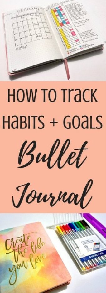How to track habits and goals with a bullet journal | www.andreapeacock.com