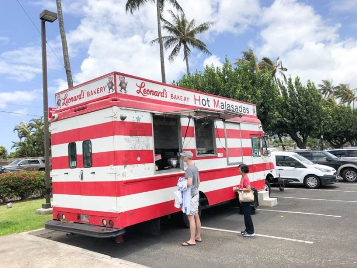 Leonard's Bakery food truck on Oahu, Hawaii