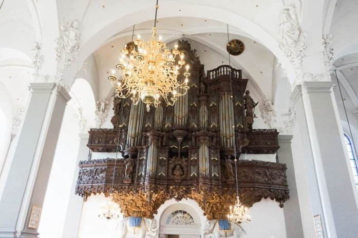 The inside of Copenhagen's Church of Our Saviour is so beautiful