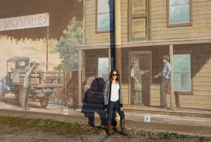 Historical mural painting of Penticton, B.C.