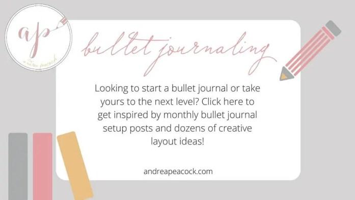Andrea Peacock bullet journal blog