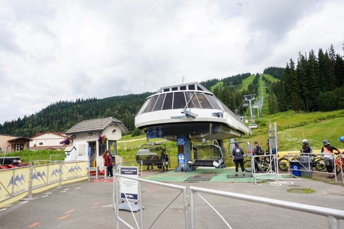 Sun Peaks Chairlift in the Summer