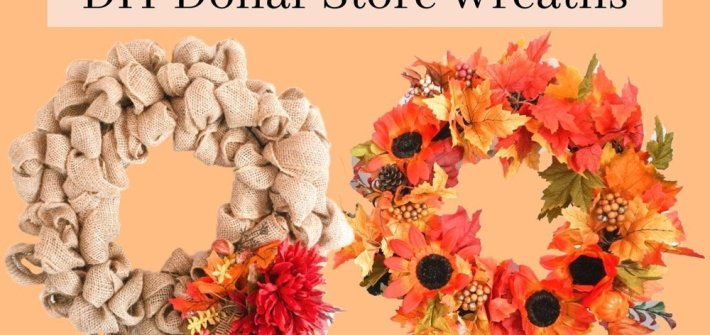 diy dollar store wreaths