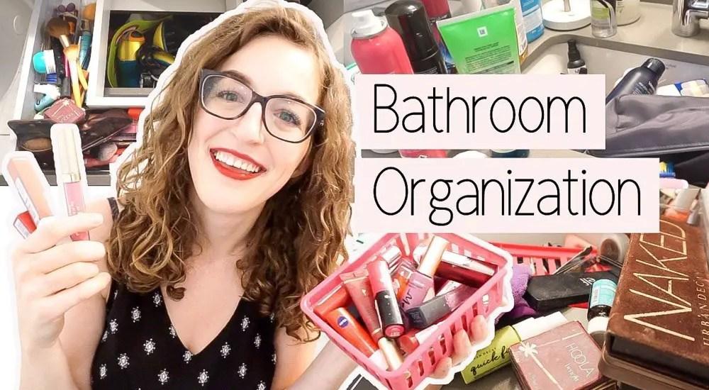 bathroom declutter and organization