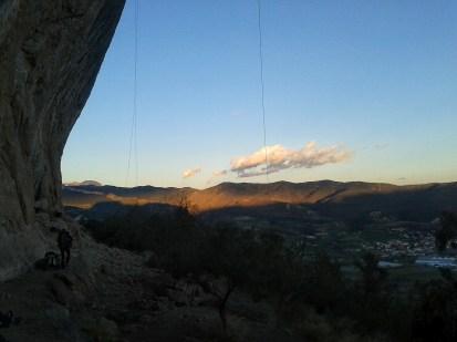 Sunset in Oliana