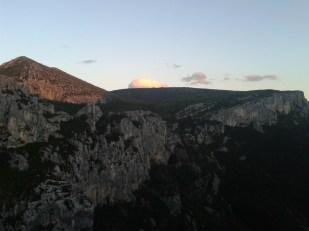 Luci del tramonto al secondo belvedere