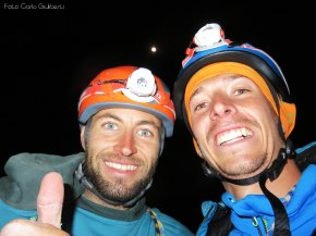 Myself and Carlo on top of Tsaranoro Atsimo after the first free ascent in one day
