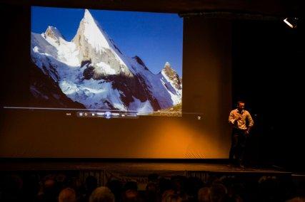 Saverio e il Laila Peak - Foto di Elena Facco