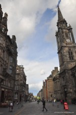 Main Street in old town Edinburgh! All of the stone is weathered from the windy, cold, and wet Scotland weather.