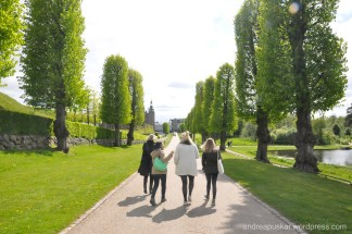 Walk through the Castle gardens... Love the simple Danish landscaping!