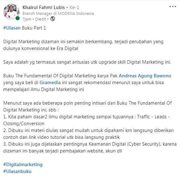 Review Buku The Fundamental of Digital Marketing