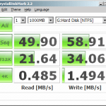 The stats of my system disk.