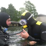 I tried diving, though not with my own tubes, so it went very slowly.