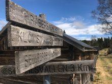 Sign post at the Swedish shieling