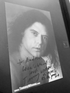 A birthday gift Tommy Wiseau Autograph