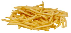 Odd food combinations french fries with ice cream