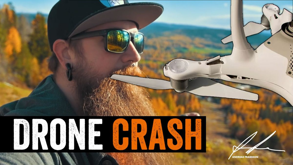 DJI Phantom 4 drone crash in Järvsö Bergscykel Park