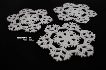 designed with The Snowflake Machine-Thingiverse/printed by parametric|art