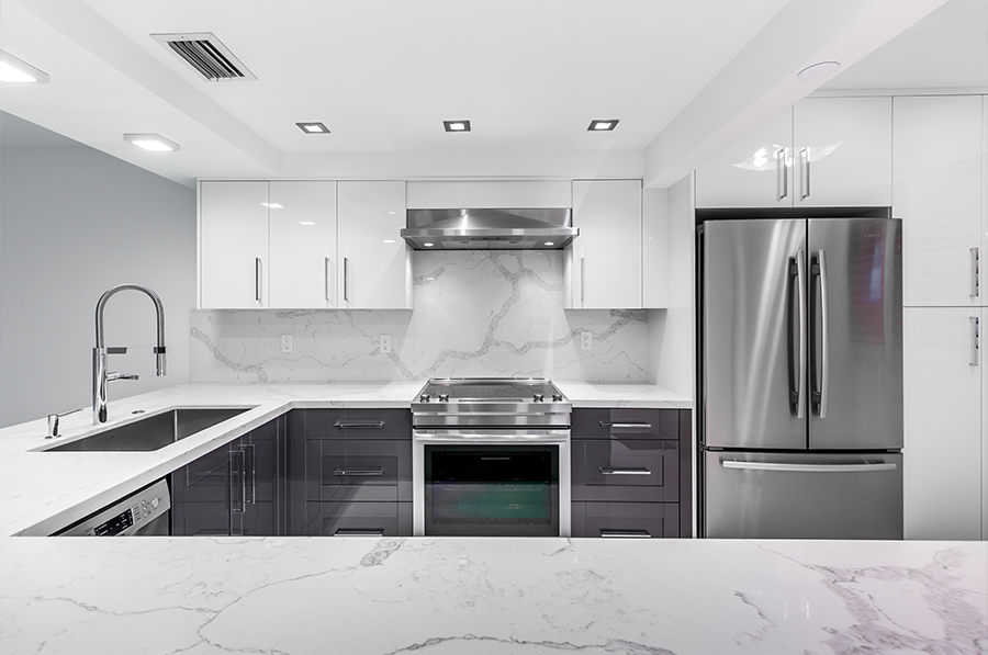 Remodeled Kitchen Gets A New Contemporary Look Andrea