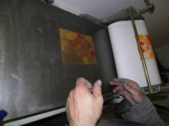 Blumenradierung von Andreas Mattern