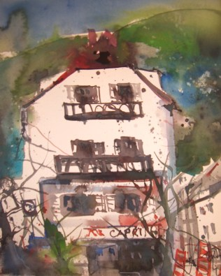 Haus Capri - Aquarell von Andreas Mattern