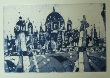 Jahresgabe 1 - Berliner Dom - Aquatinta von Andreas Mattern - 10 x 15 cm - Auflage 50 Stück
