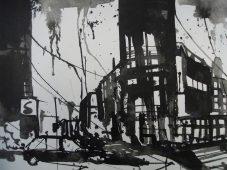 Potsdamer Platz, Zeichnug 33/44 cm , von Andreas Mattern