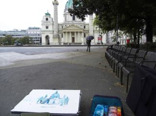 """Malen in Wien, """"Karlsplatz"""", Andreas Mattern"""