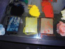 ausgewischte Farbplatten, Andreas Mattern