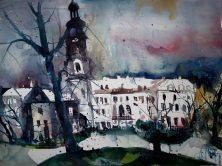 Weimar Schloss, Aquarell 56/76 cm, Andreas Mattern