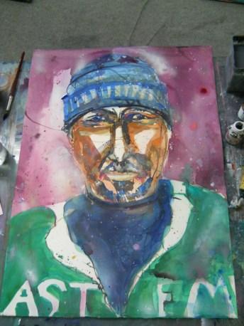 """Selbst"" Aquarell 56/76 cm, Andreas Mattern 2012"