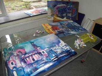 Im Atelier geht das Malen weiter:-), Andreas Mattern 2012