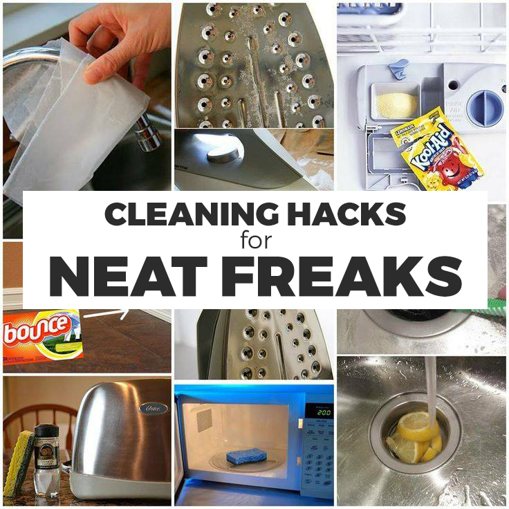 Cleaning hacks for neat freaks!